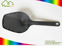 Food Grade durable vegetable colander,black nylon BBQ spoon, Nylon Slotted Spoon