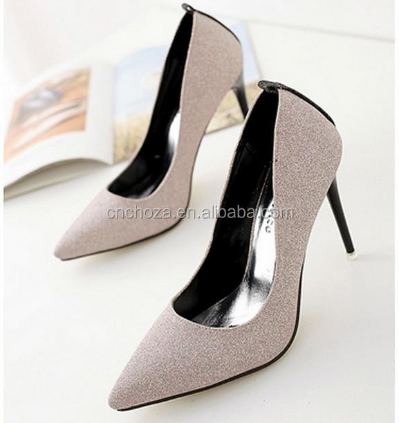 Z56394B newest fashion lady latest high heel women pump dress shoes