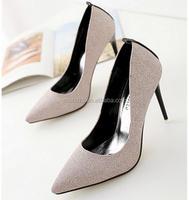 Z56394B newest fashion lady latest high heel women pump dress shoes
