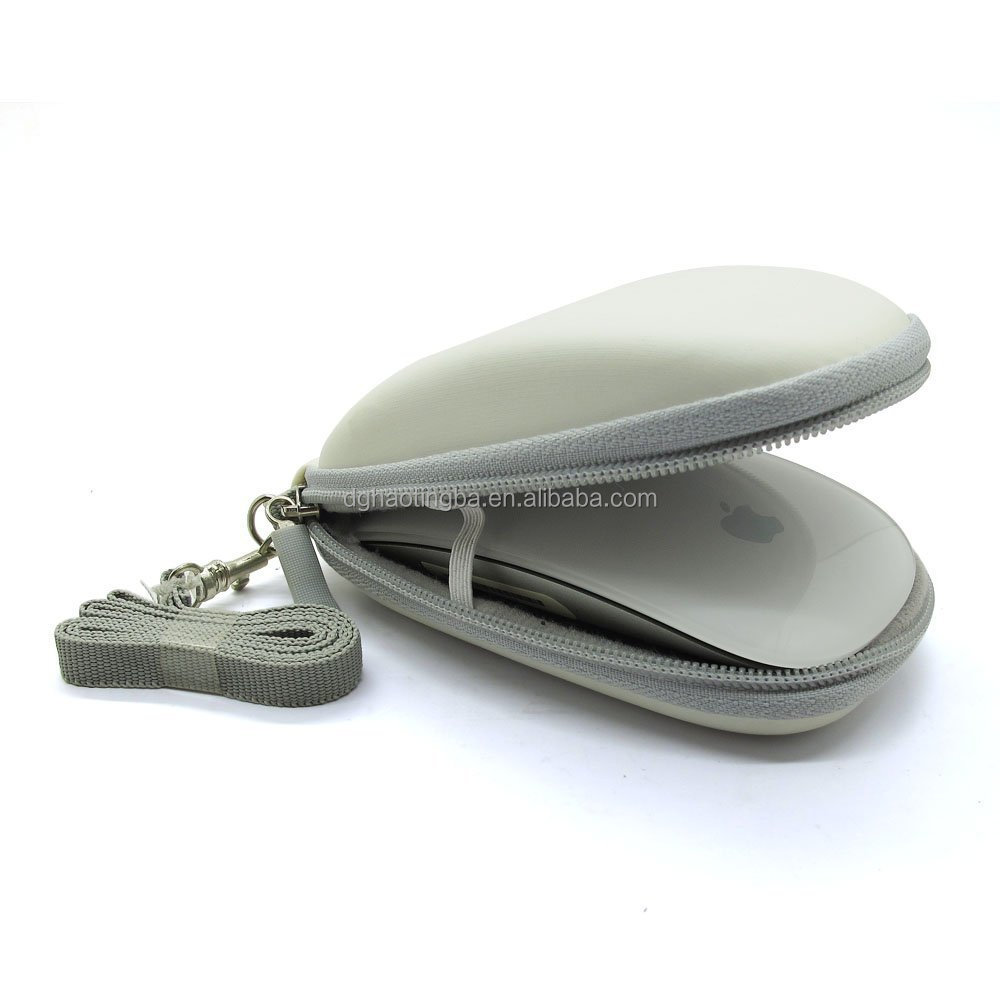 4818D White EVA Semi-Hard Carry Travel Cover Case pouch Bag For Apple MAC Wireless Magic Bluetooth Mouse