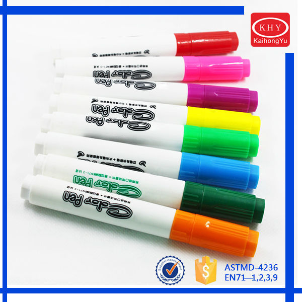 Non-toxic chunk cute shape promotional colored ink permanent marker