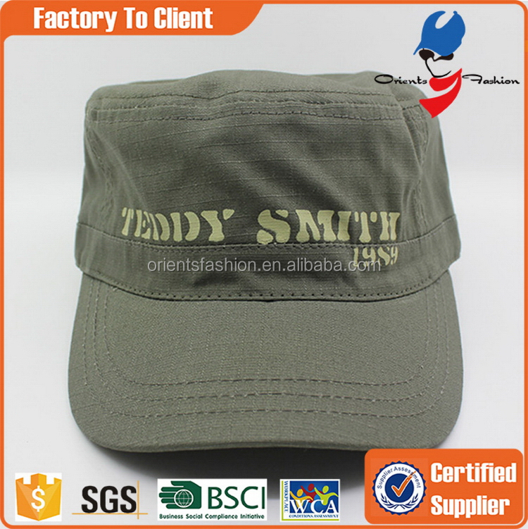 2016 classical military ear-flap canvas cap men