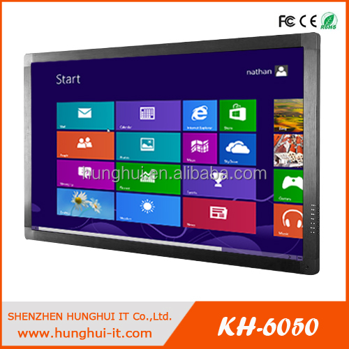 "55"" HD large format IR 10points multi-touch screen lcd monitor for advertising"