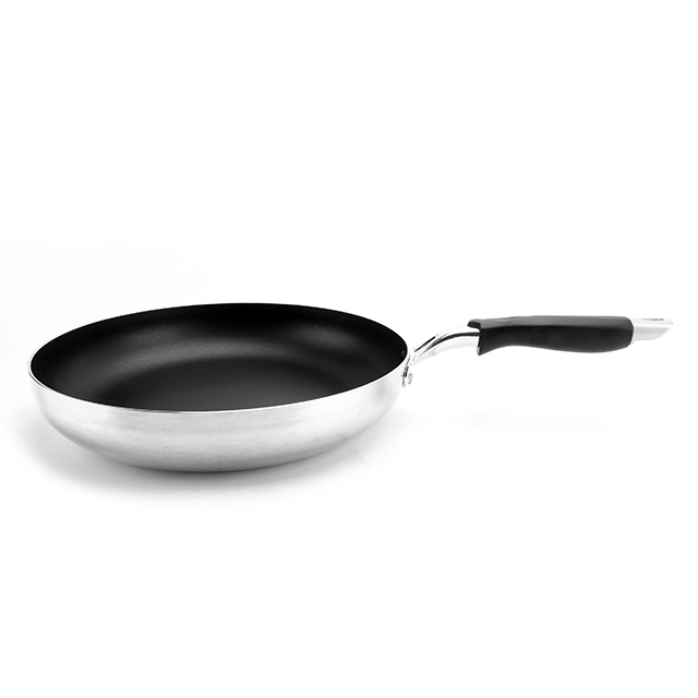 3003 Aluminum alloy die cast non-stick ceramic coating IH skillet/egg deep frying pan with silicone handle HC-20FP1