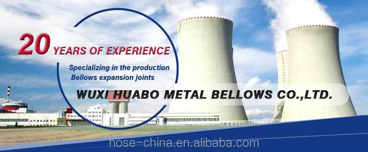 Yangbo flange end galvanized air spring bellow metal hose