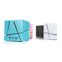 Fashion luminous magic cube mini wireless bluetooth speaker portable with colorful led light and mp3 fm radio aux tf card