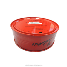 2016 China supplier wholesale round food gift package metal tin box