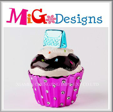 Art Gift Decor Cupcake Ceramic Money Box For Safe