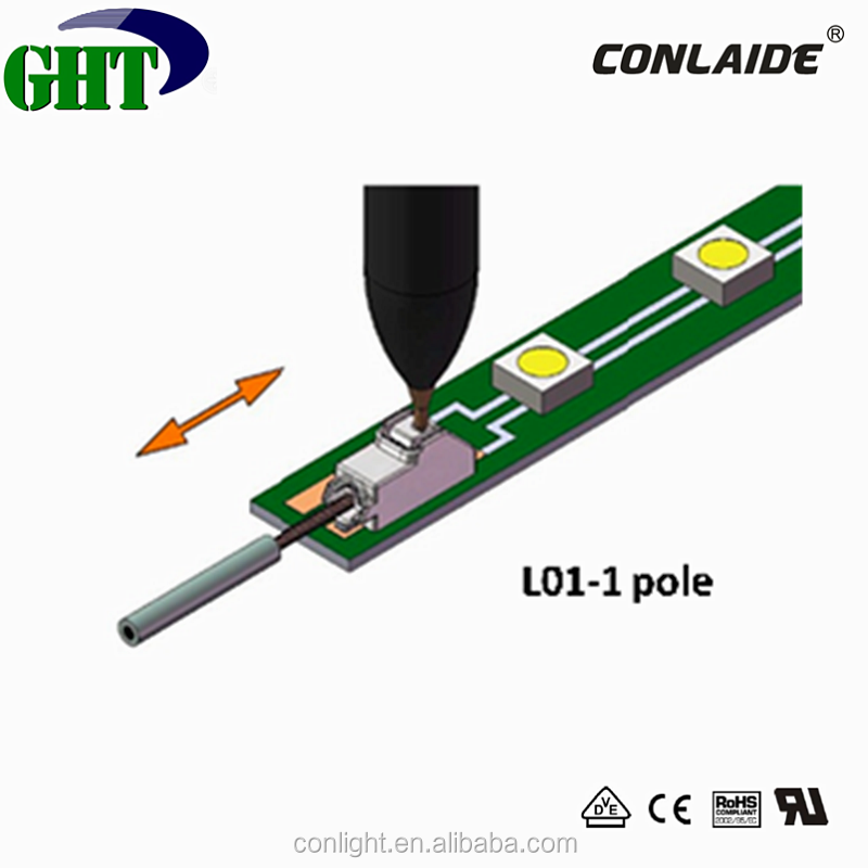 Colight Hot Sale 1 Pole Surface Mounted Terminal With Press Button