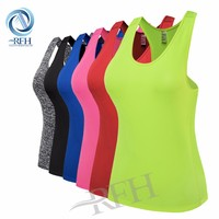 Wholesale activewear fitness yoga wear womens tank tops shirt