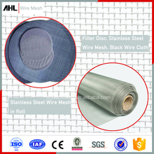 310 314 316 316L Woven Wire Cloth 20X20 30X30 100X100 80 Black Filter Disc 0.25mm 0.2mm Stainless Steel Wire Mesh Roll