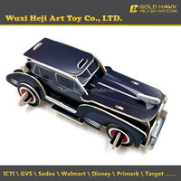 custom high quality carved wooden car toys puzzle