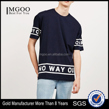 Clothing Manufacturer Made Fashion Style Basic Tee With Printing Custom Casual Streetwear Flat Hem Cotton Tee Shirt