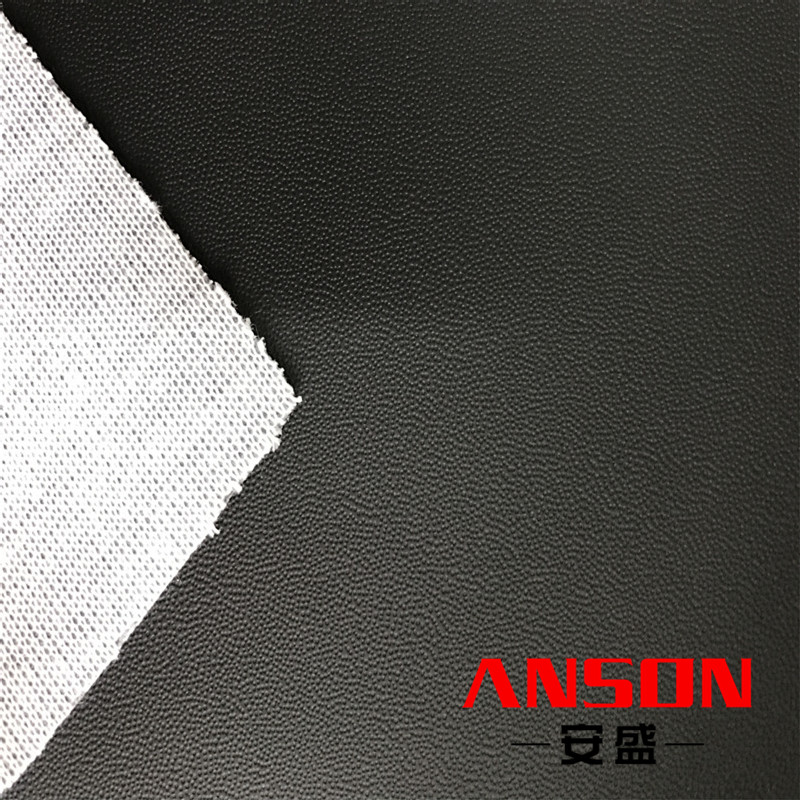 knitted backing pvc synthetic car wrap vinyl leather car seat fabric for car