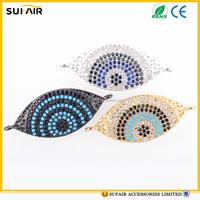 High quantity Diamond micro Paved turkey evil eye jewelry