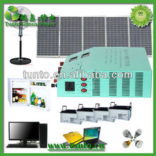 portable solar power generator system,small solar generator with 3W LED bulb Home Use