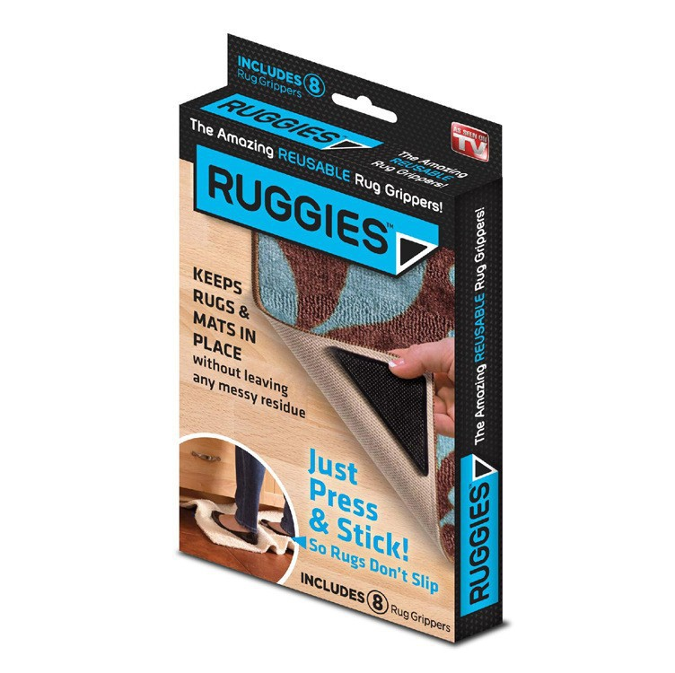 Stick ruggies black color triangles rug grippers