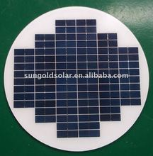 Small solar module 10W 18v round solar panel for 12v LED street light