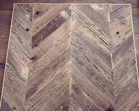Chevron Unfinished Reclaimed oak Engineered Wood Flooring