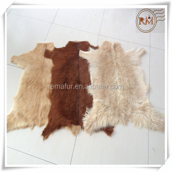 China factory wholesale high quality raw sheep and goat skins in low price
