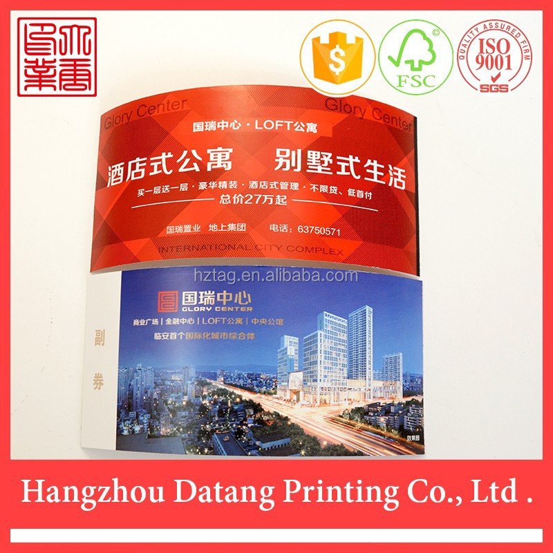 Thermal apartment printing best useful custom paper card tickets