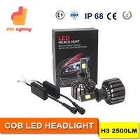 Guangzhou new generation 6S h3 high power car head light motorcycle led headlight