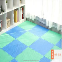 Plain interlocking EVA soft foam exercise floor mats
