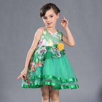 2016 hot sales fashion dresses for 2-8 years girl party dress designs