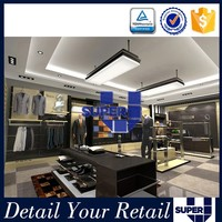 retail store shelving systems clothing display mdf stand for clothes store
