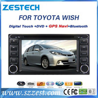 ZESTECH 2 din car stereo for Toyota Wish 2003 - 2012 car gps navigation wholesale with EXW price and lowest price