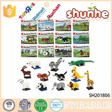Innovative zoo building block plastic animal toys
