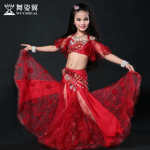 Wuchieal High quality Children Belly Dance Costumes for Performance