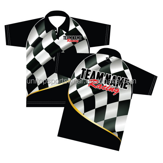 Custom Sublimated pit crew racing car camp Car Club Shirts