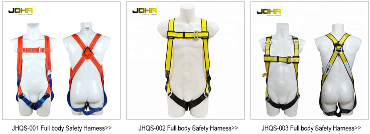 high quality Punch holes lowes climbing buckles double lanyard hook  lanyard belt parts of name full body with safety harness