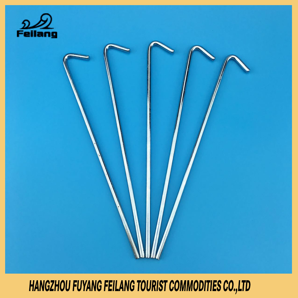 New Manufacturing High Strength Lengthen Nails Steel Galvanized Tent Pegs Camping Equipment