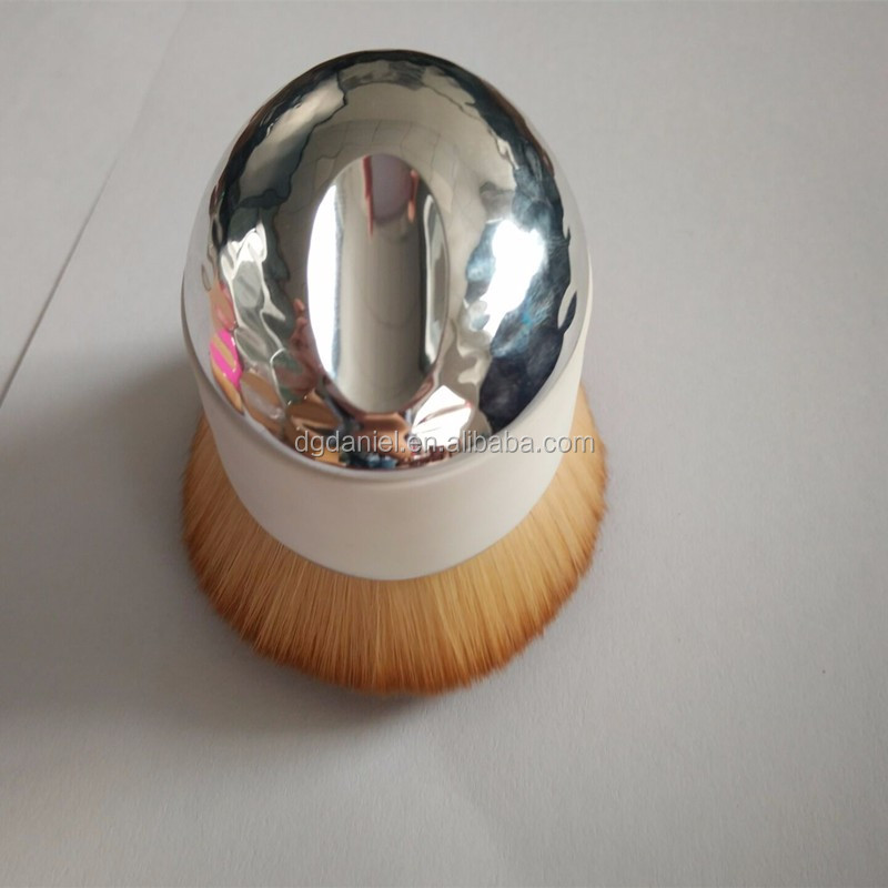 New arrival big size powder makeup brush,white and pink makeup brush