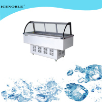 Direct cooling supermarket chiller meat cooler commercial refrigerator