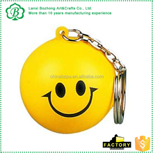 Customized OEM brand PU crafts lovely mini key chains, Soft promotion gift