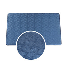 Fireproof Anti Slip Antifatigue PU Front Door Kitchen Workplace Mats Blue