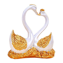 Couple Swan Statue Figurine Wedding Favors Gift Resin Crafts Ornaments Resin Animal Ornaments