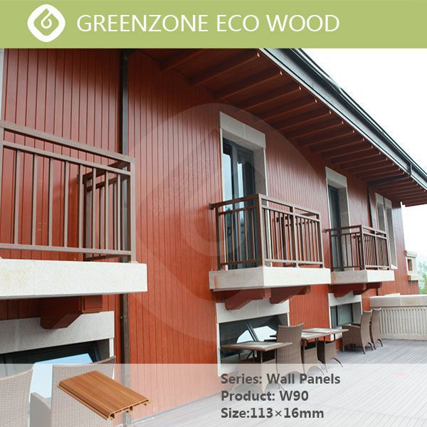 Unique design only we own special facade outdoor wood plastic composite wall panel