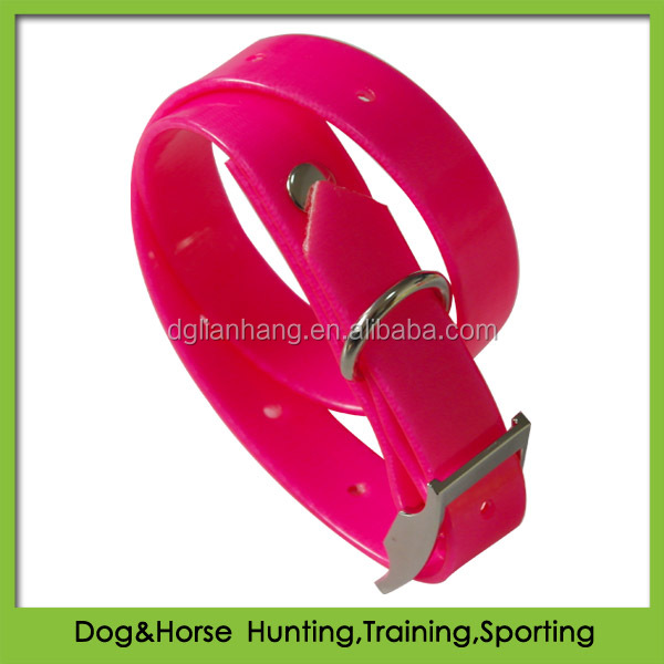dog gift with beautiful plastic TPU dog collar cute pink