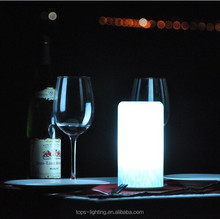 5w Power Source rechargeable glass Material color changing decorative night lights with shades
