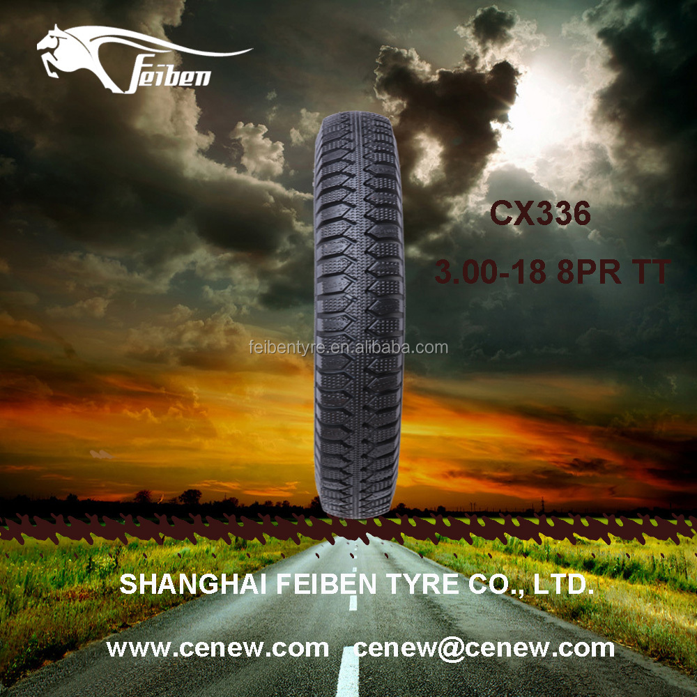Chinese Top Brand Motorcycle Tyre3.00-18 Motor Tyre For Tricycle Tyre