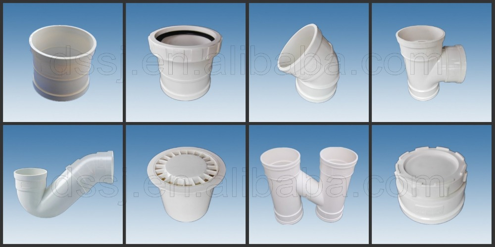Plastic water pipe fittings 3 4 inch white color pvc elbow for White plastic water pipe
