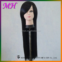 Hot Selling Fashion Machine Made Synthetic Hair Wig Long Straight Natural Wig Cosplay