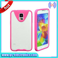 2014 new design 2 in 1 mobile phone case PET screen protector TPU case for galaxy S5 i9600