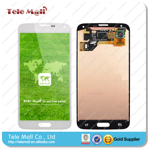 Original Mobile Phone LCD Screen Digitizer + Frame Assembly for Samsung Galaxy S5