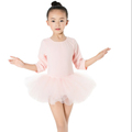 Cute Children Clothing Pure Color Kids Girls Little Baby Half Sleeve Tutu Dresses