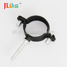 M6 black pipe clamp with screw